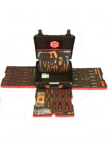 Electrician Tool Kits by Red Box Tools and Foam. Shadow foam included as standard.